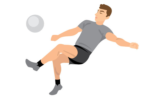 Download Free Male Soccer Bicycle Kick Svg Cut File By Creative Fabrica Crafts for Cricut Explore, Silhouette and other cutting machines.