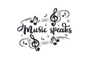 Music Speaks Craft Design By Creative Fabrica Crafts