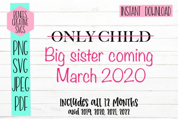 Download Free Only Child Big Sister Svg Cut File Graphic By for Cricut Explore, Silhouette and other cutting machines.