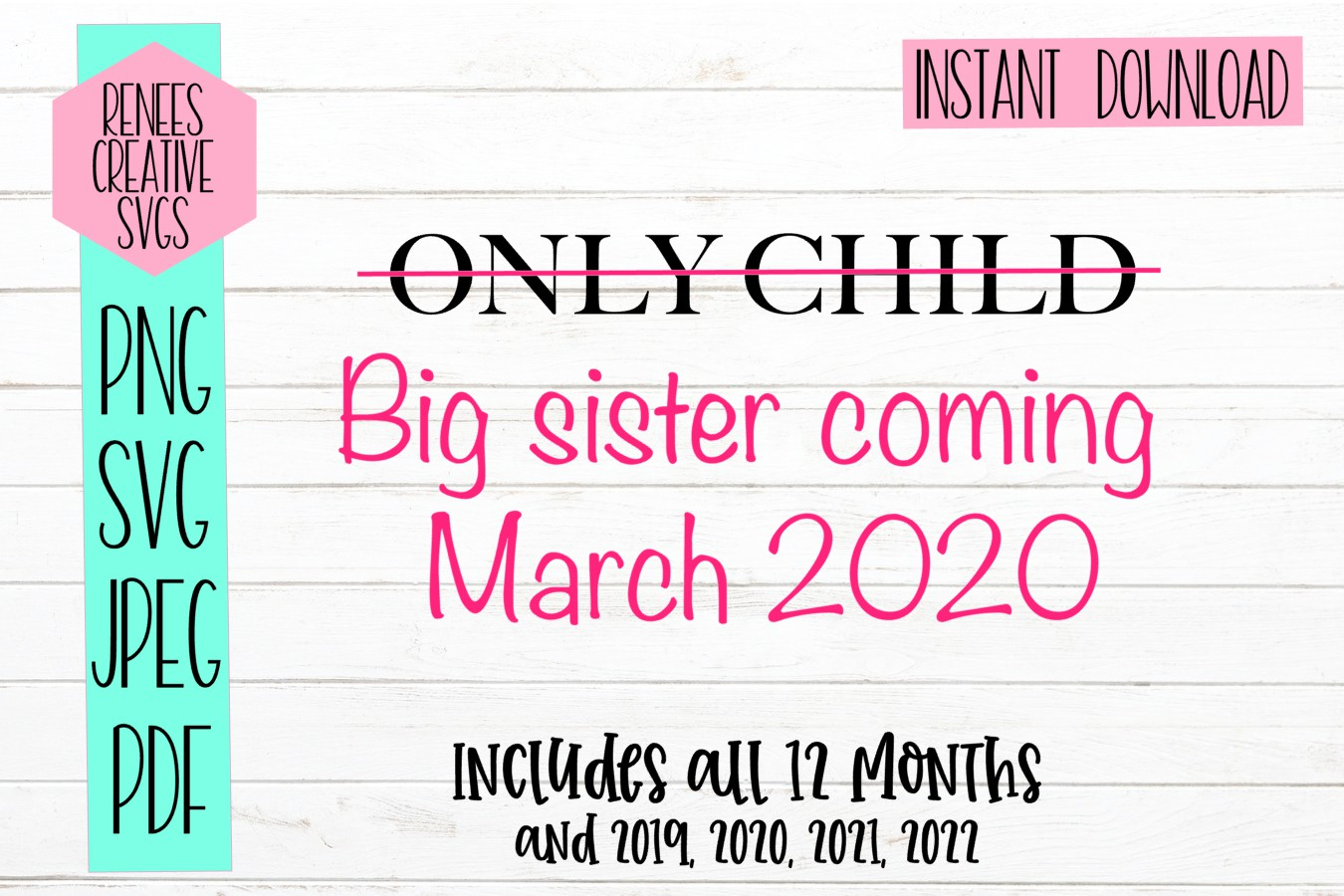Only Child Big Sister Svg Cut File Graphic By