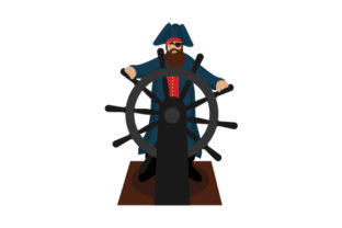 Pirate Steering Ship Craft Design By Creative Fabrica Crafts