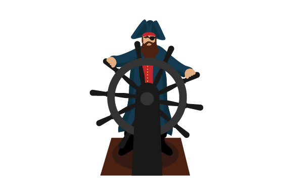 Pirate Steering Ship Svg Cut File By Creative Fabrica Crafts
