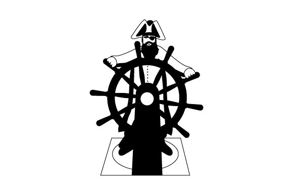 Pirate Steering Ship Cut File Download
