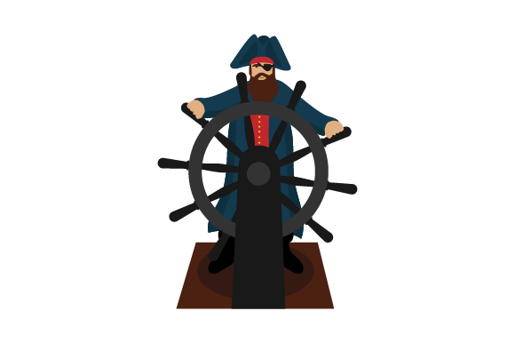 Download Free Pirate Steering Ship Svg Cut File By Creative Fabrica Crafts for Cricut Explore, Silhouette and other cutting machines.