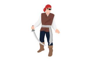 Pirate with Sword Craft Design By Creative Fabrica Crafts
