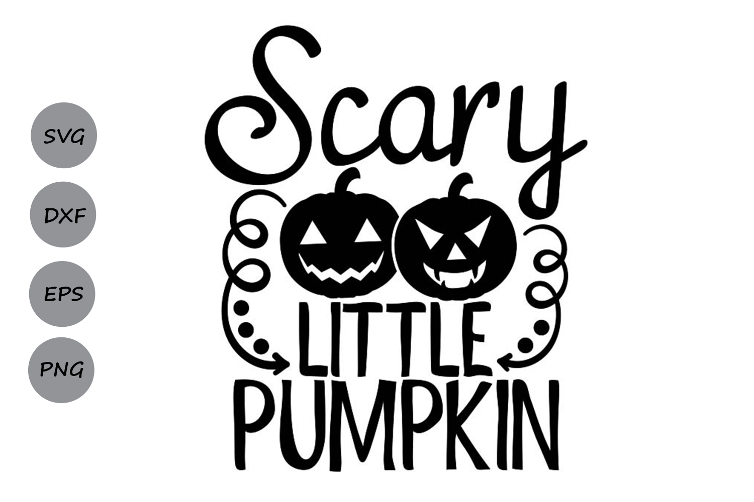 Download Free Scary Little Pumpkin Graphic By Cosmosfineart Creative Fabrica for Cricut Explore, Silhouette and other cutting machines.