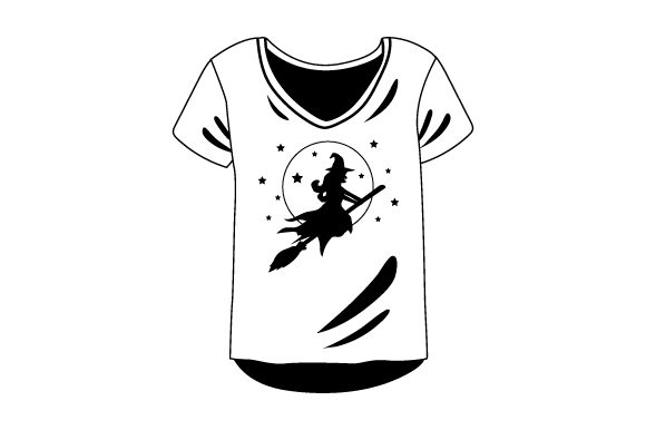 Download Free T Shirt With Witch On Broom Mockup Svg Cut File By Creative for Cricut Explore, Silhouette and other cutting machines.