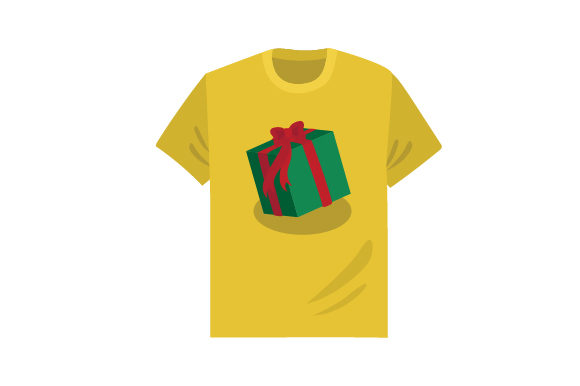 Download Free T Shirt With Wrapped Present Mockup Svg Cut File By Creative SVG Cut Files