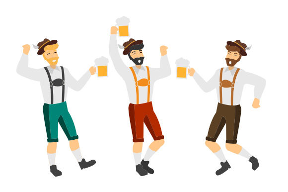 Download Free 3 Guys Lederhosen Svg Cut File By Creative Fabrica Crafts for Cricut Explore, Silhouette and other cutting machines.