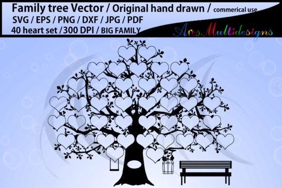 40 Heart Family Tree Clipart Graphic By Arcs Multidesigns