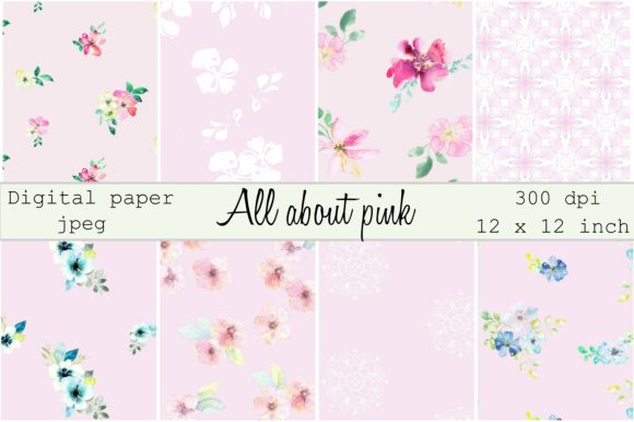 Print on Demand: All About Pink Digital Paper Graphic Patterns By Anines Atelier