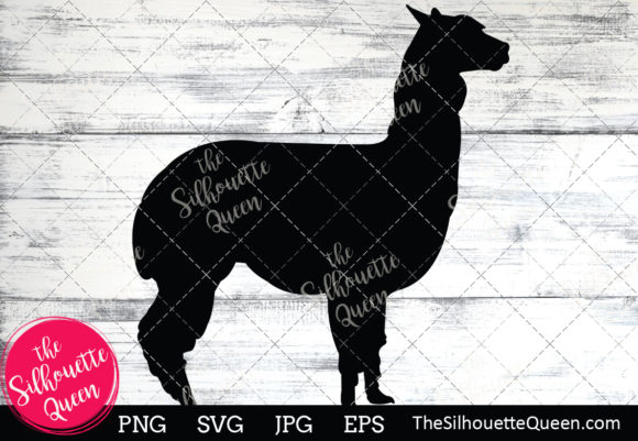 Download Free Alpaca Silhouette Graphic By Thesilhouettequeenshop Creative for Cricut Explore, Silhouette and other cutting machines.