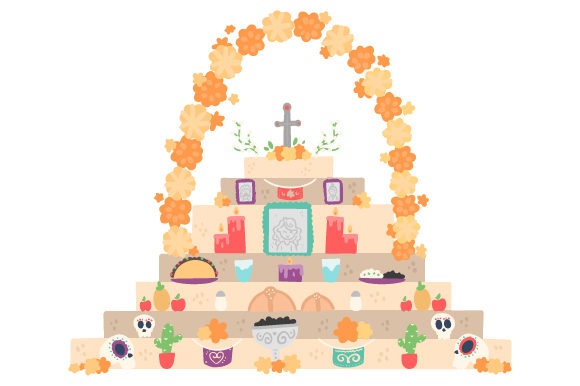 Altar of the Dead Mexico Craft Cut File By Creative Fabrica Crafts - Image 1