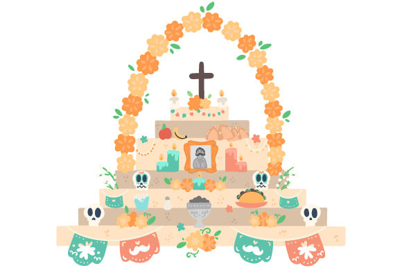 Download Free Altar Of The Dead Svg Cut File By Creative Fabrica Crafts Creative Fabrica for Cricut Explore, Silhouette and other cutting machines.