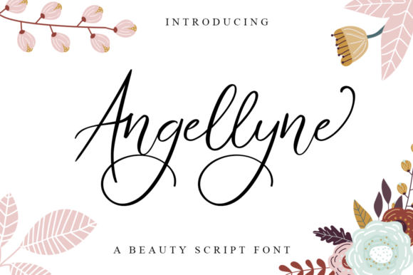 Print on Demand: Angellyne Script Script & Handwritten Font By Haksen
