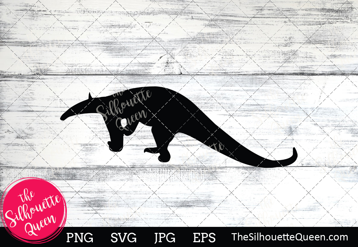 Download Free Anteater Silhouette Grafik Von Thesilhouettequeenshop Creative for Cricut Explore, Silhouette and other cutting machines.