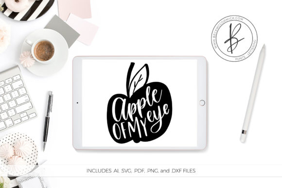 Download Free Apple Of My Eye Graphic By Beckmccormick Creative Fabrica for Cricut Explore, Silhouette and other cutting machines.