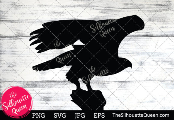 Download Free Bald Eagle Silhouette Graphic By Thesilhouettequeenshop SVG Cut Files