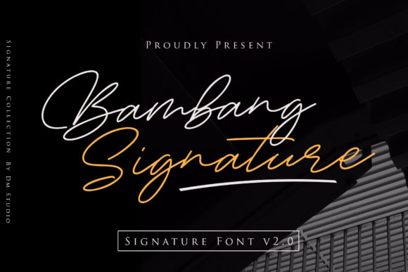 Print on Demand: Bambang Signature Script & Handwritten Font By dmletter31