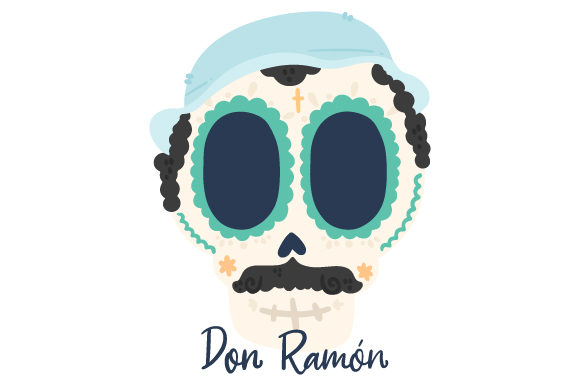 Download Free Don Ramon Skull Svg Cut File By Creative Fabrica Crafts for Cricut Explore, Silhouette and other cutting machines.