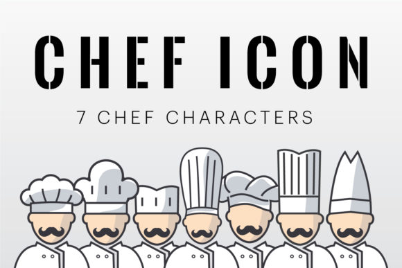 Chef Character Icons Graphic By creativemedialab