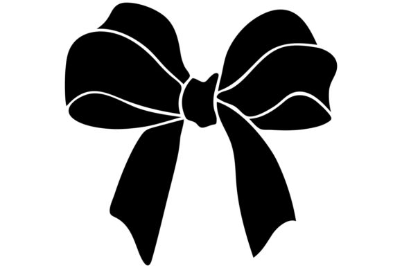 Download Free Christmas Gift Bow Clip Art Image Grafik Von Idrawsilhouettes for Cricut Explore, Silhouette and other cutting machines.