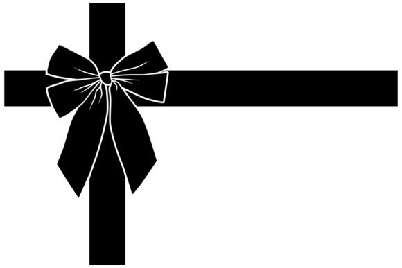Download Free Christmas Gift Bow With Ribbon Graphic By Idrawsilhouettes for Cricut Explore, Silhouette and other cutting machines.