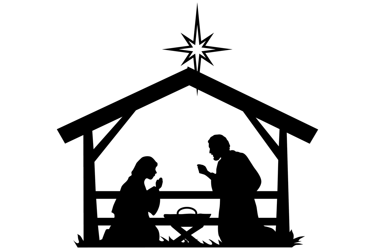 Download Free Christmas Nativity Scene Graphic By Idrawsilhouettes Creative for Cricut Explore, Silhouette and other cutting machines.