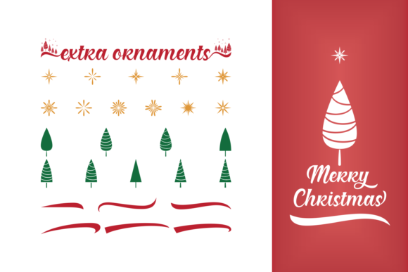 Christmas Present Duo Font By Situjuh Image 3