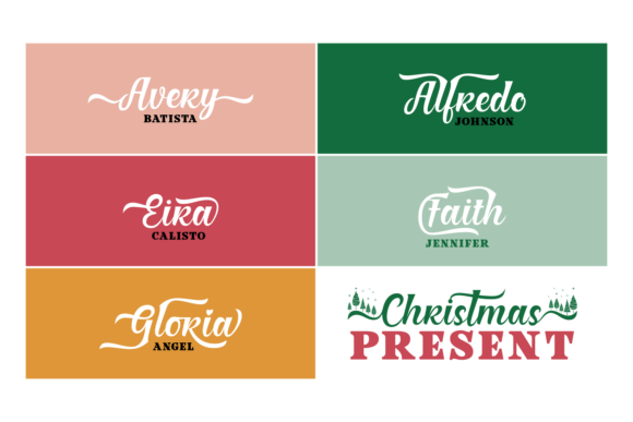 Christmas Present Duo Font By Situjuh Image 4