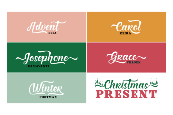 Christmas Present Duo Font By Situjuh Image 5