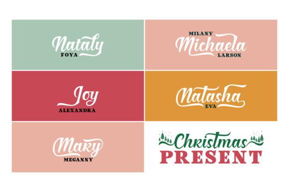 Christmas Present Duo Font By Situjuh Image 6