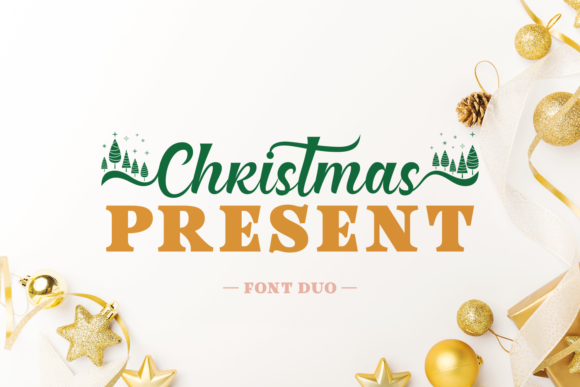 Christmas Present Duo Script & Handwritten Font By Situjuh