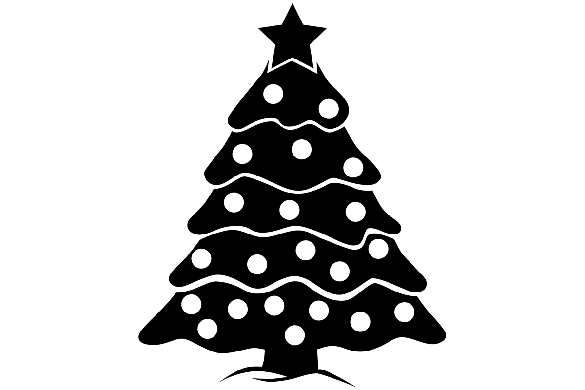 Download Free Christmas Tree Graphic By Idrawsilhouettes Creative Fabrica for Cricut Explore, Silhouette and other cutting machines.