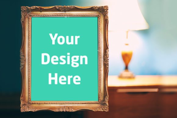Print on Demand: Classic Frame with Lampshades Graphic Product Mockups By Outflow Designs