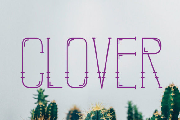 Print on Demand: Clover Display Font By jehansyah251