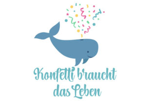 Confetti Whale Craft Design By Creative Fabrica Crafts