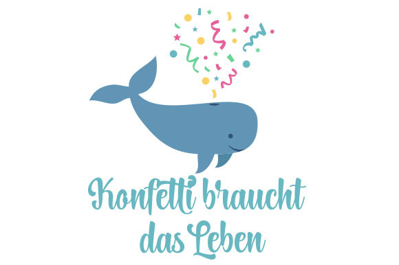 Confetti Whale Germany Craft Cut File By Creative Fabrica Crafts - Image 1