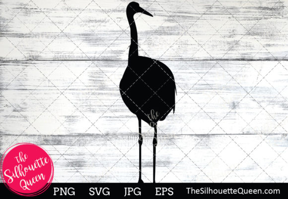 Download Free Crane Silhouette Graphic By Thesilhouettequeenshop Creative for Cricut Explore, Silhouette and other cutting machines.