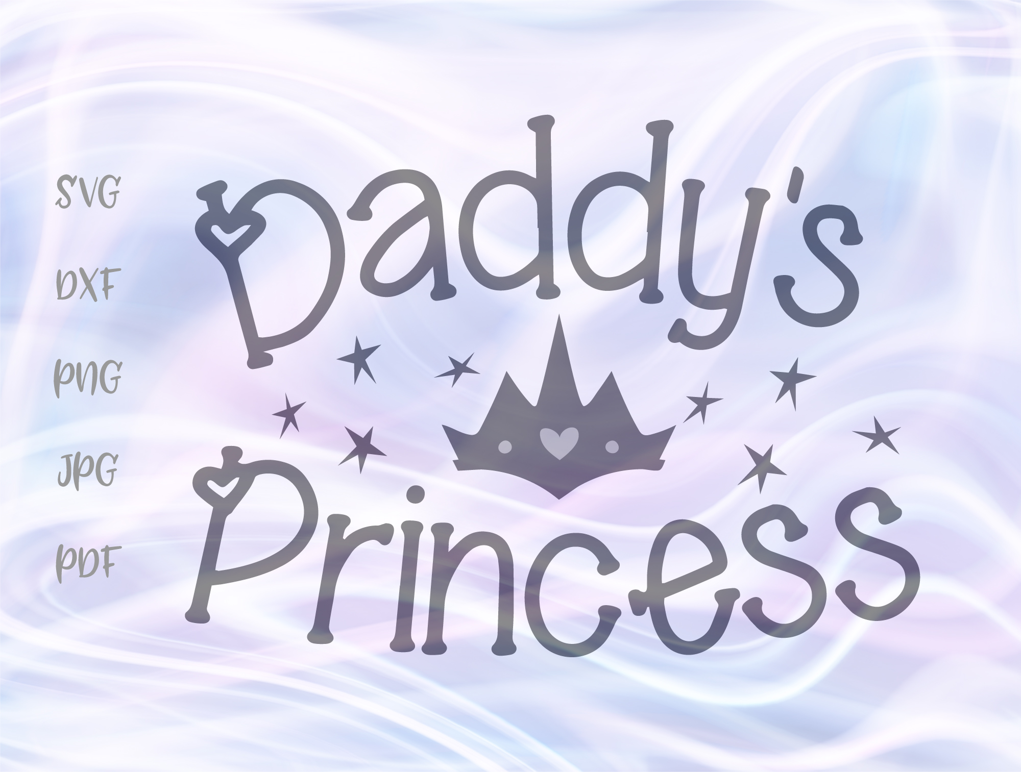 Download Free Daddy S Princess Tiara Clipart Graphic By Digitals By Hanna for Cricut Explore, Silhouette and other cutting machines.