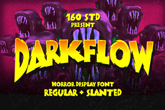 Print on Demand: Darkflow Display Font By 160 Studio