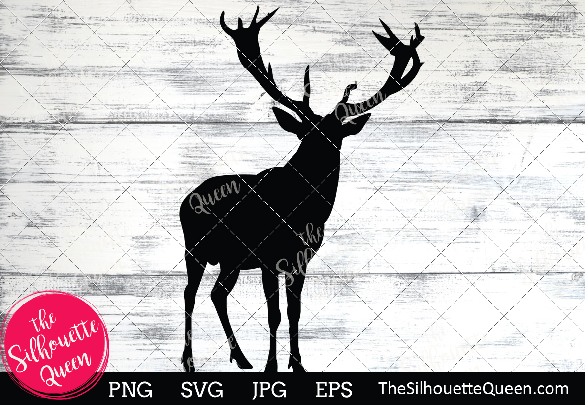 Download Free Deer Silhouette Graphic By Thesilhouettequeenshop Creative Fabrica for Cricut Explore, Silhouette and other cutting machines.
