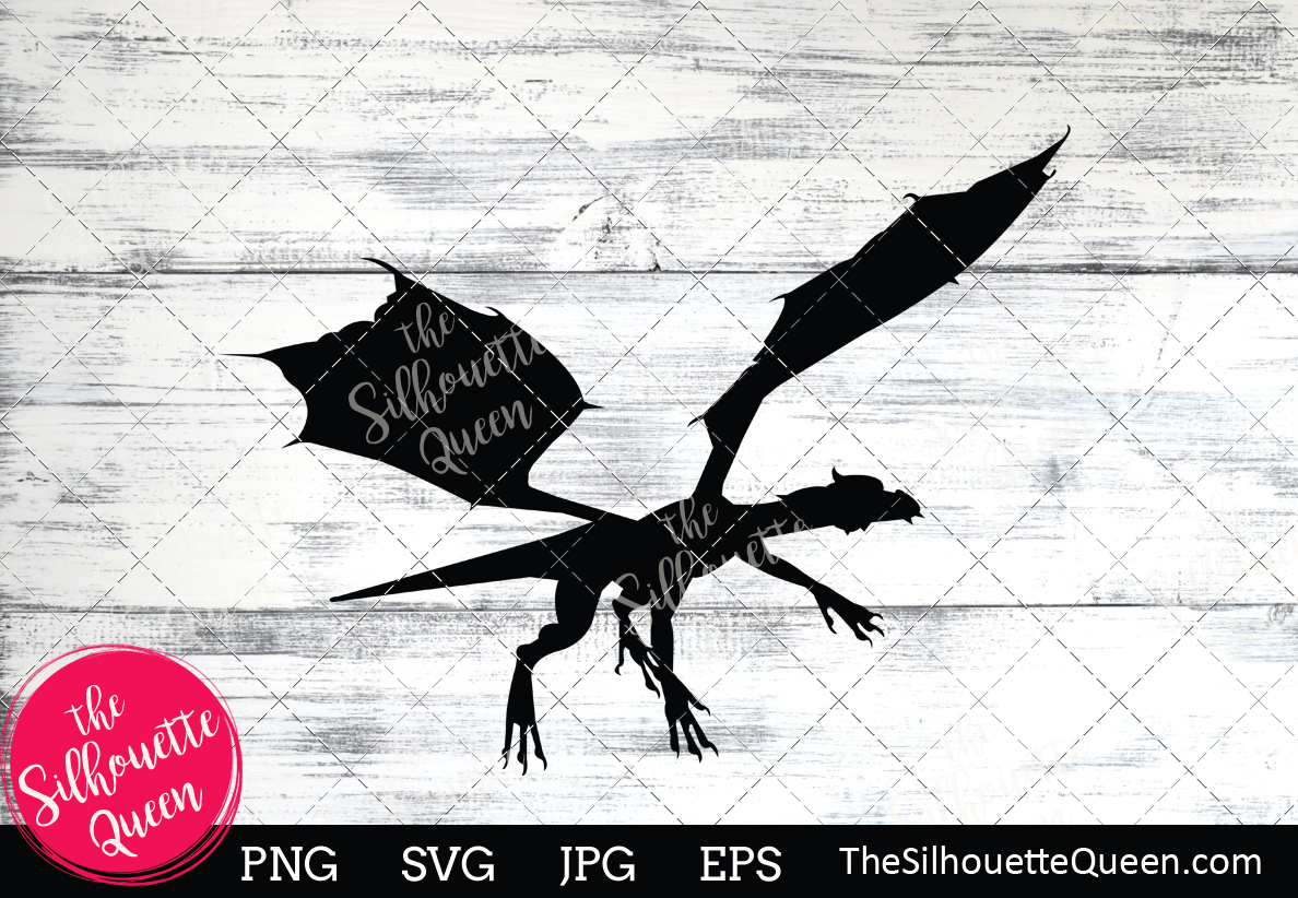 Download Free Dragon Silhouette Graphic By Thesilhouettequeenshop Creative for Cricut Explore, Silhouette and other cutting machines.