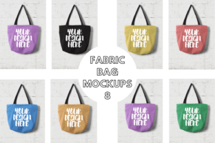 Print on Demand: Fabric Bag Mock Ups with Wall Background Graphic Product Mockups By Mockup Venue