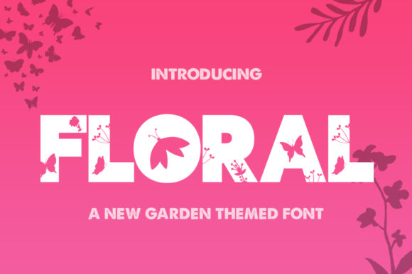 Print on Demand: Floral Display Font By Salt & Pepper Designs
