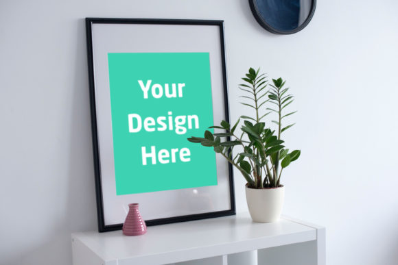 Print on Demand: Frame with Vase Beside Graphic Product Mockups By Outflow Designs