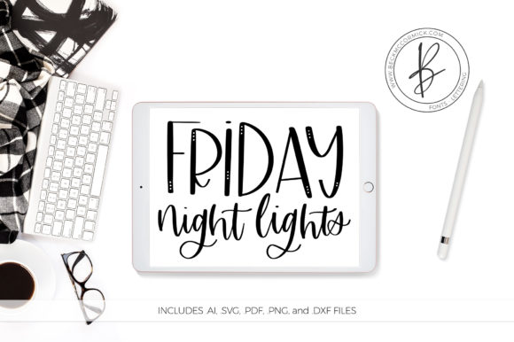 Download Free Friday Night Lights Graphic By Beckmccormick Creative Fabrica for Cricut Explore, Silhouette and other cutting machines.