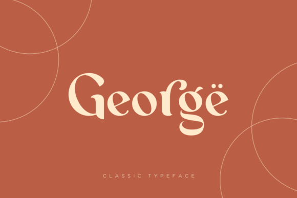 Print on Demand: George Serif Font By dharmas