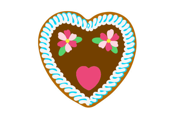 Gingerbread Heart Svg Cut File By Creative Fabrica Crafts
