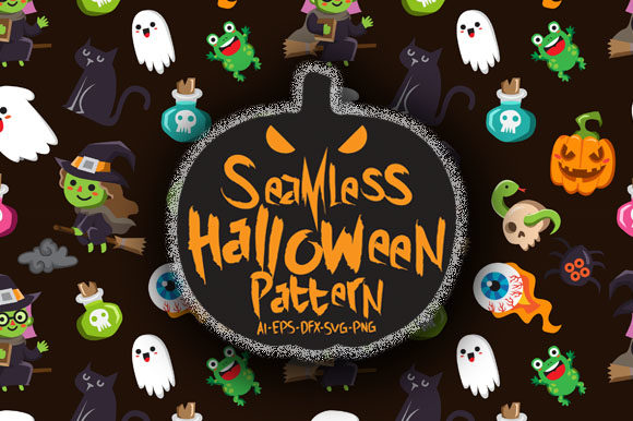 Download Free Halloween Seamless Patterns 25 Graphic By Bayu Baluwarta for Cricut Explore, Silhouette and other cutting machines.